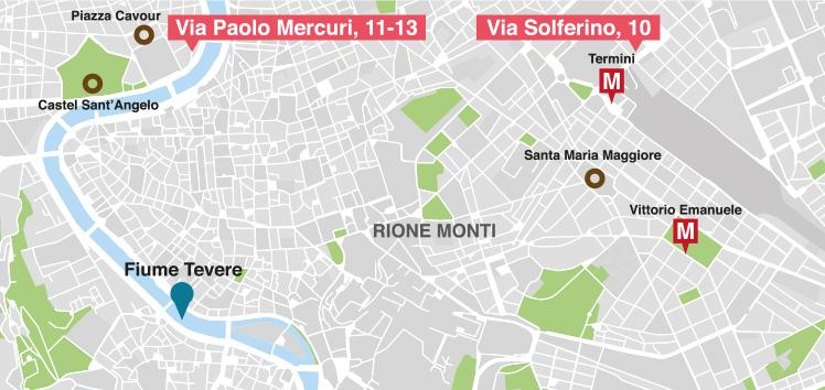 Cartina Sedi Lavanderia Spadini Roma Centro